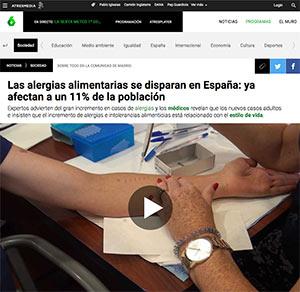 Las alergias alimentarias se disparan en España: ya afectan a un 11% de la población