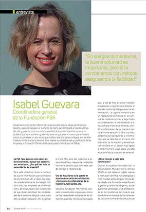 Alergias Alimentarias. Entrevista a Isabel Guevara, coordinadora de la Fundación FSA
